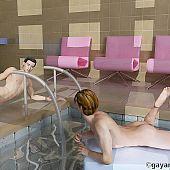 Near pool sexy gays.