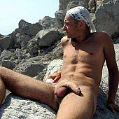 Neverseen homo nudist beach.