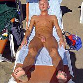 Nature's garb males beach.