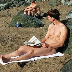 Gay nudist.