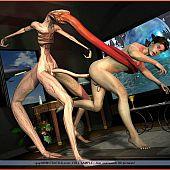 Sci-fi 3D aliens homo porn.